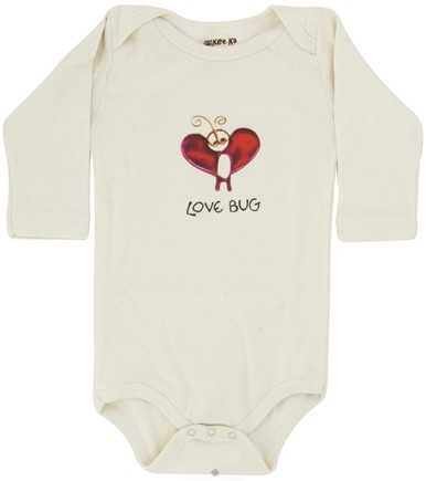 DROPPED: Kee-Ka - 100% Organic Cotton Long Sleeve BodySuit With Wearable Greetings Gift Box Love Bug 6-12 Months - CLEARANCE PRICED
