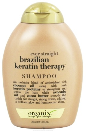 DROPPED: Organix - Shampoo Ever Straight Brazilian Keratin Therapy - 13 oz. CLEARANCE PRICED