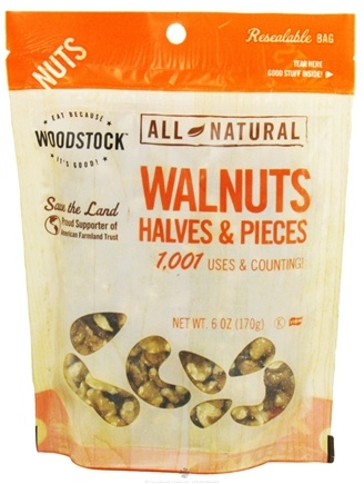 DROPPED: Woodstock Farms - All-Natural Walnuts Halves & Pieces - 6 oz.