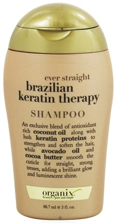 DROPPED: Organix - Shampoo Ever Straight Brazilian Keratin Therapy - 3 oz. CLEARANCE PRICED