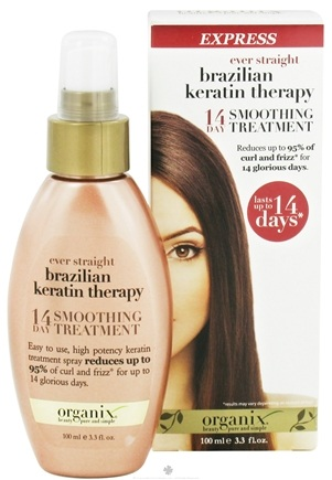 DROPPED: Organix - 14 Day Express Smoothing Treatment Ever Straight Brazilian Keratin Therapy - 3.3 oz. CLEARANCE PRICED