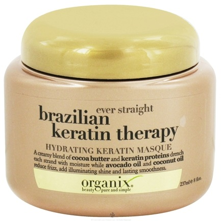 DROPPED: Organix - Hydrating Keratin Masque Ever Straight Brazilian Keratin Therapy - 8 oz. CLEARANCE PRICED