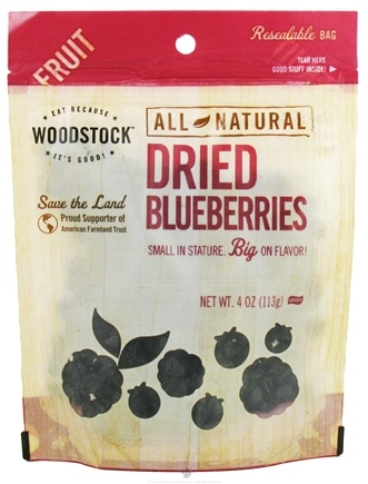 DROPPED: Woodstock Farms - All-Natural Dried Blueberries - 4 oz. CLEARANCE PRICED