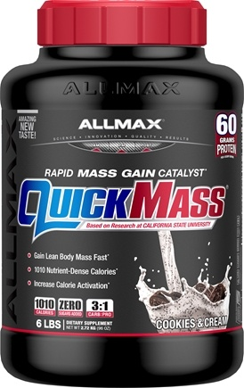 AllMax Nutrition - QuickMass Loaded Cookies & Cream - 6 lbs.