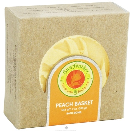 DROPPED: Sunfeather - Bath Bomb Peach Basket - 7 oz. CLEARANCE PRICED