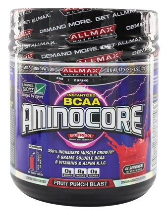 DROPPED: AllMax Nutrition - Aminocore BCAAs Advanced Myotrophic Matrix Fruit Punch Blast - 400 Grams
