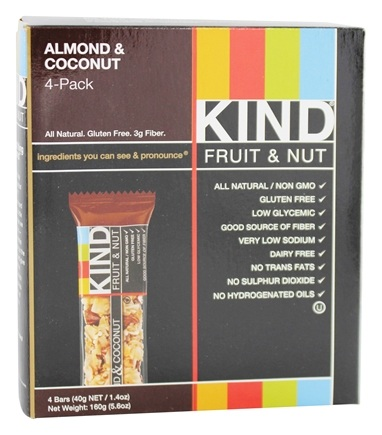 DROPPED: Kind Bar - Fruit and Nut Bars Almond & Coconut - 4 Bars
