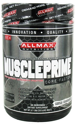 DROPPED: AllMax Nutrition - Muscle Prime Core Factor Pre-Workout Intensity Factor White Raspberry - 2.1 lbs.