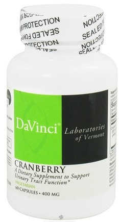 DROPPED: DaVinci Laboratories - Cranberry 400 mg. - 60 Vegetarian Capsules CLEARANCE PRICED