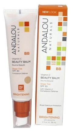 Andalou Naturals - Brightening Vitamin C BB Beauty Balm Sheer Tint with 30 SPF - 2 oz.