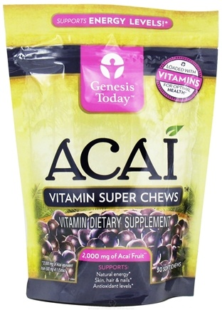DROPPED: Genesis Today - Acai Vitamin Super Chews 2000 mg. - 30 Soft Chews