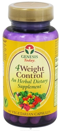 DROPPED: Genesis Today - 4Weight Control - 60 Vegetarian Capsules