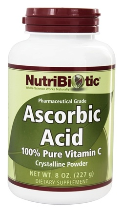 DROPPED: Nutribiotic - Ascorbic Acid Crystalline Powder 100% Pure Vitamin C 2500 mg. - 8 oz.