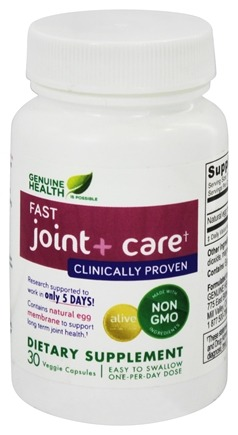 DROPPED: Genuine Health - Fast Joint+ Care - 30 Vegetarian Capsules