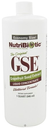 DROPPED: Nutribiotic - GSE Grapefruit Seed Extract Liquid Concentrate - 1 qt.