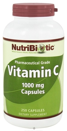DROPPED: Nutribiotic - Vitamin C Pharmaceutical Grade 1000 mg. - 250 Capsules CLEARANCE PRICED