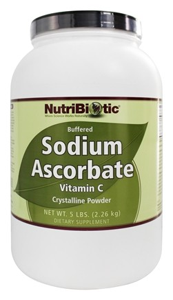 DROPPED: Nutribiotic - Sodium Ascorbate Buffered Crystalline Powder - 5 lbs.