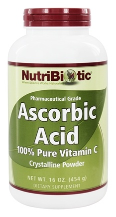DROPPED: Nutribiotic - Ascorbic Acid Crystalline Powder 100% Pure Vitamin C 2500 mg. - 16 oz.