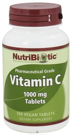 DROPPED: Nutribiotic - Vitamin C Pharmaceutical Grade 1000 mg. - 100 Vegetarian Tablets
