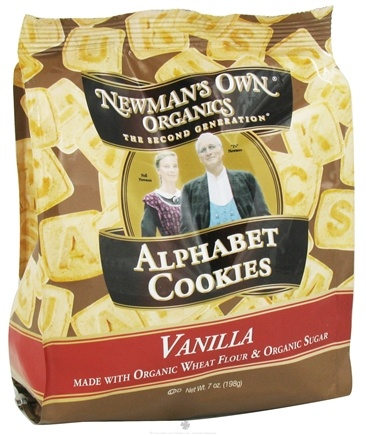 DROPPED: Newman's Own Organics - Alphabet Cookies Vanilla - 7 oz. CLEARANCE PRICED