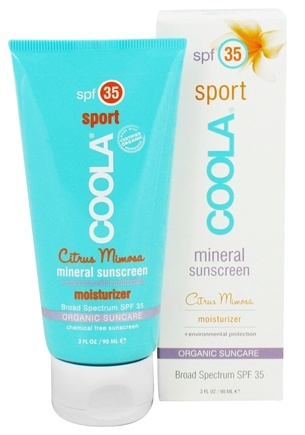 DROPPED: Coola Suncare - Mineral Sunscreen Sport Moisturizer Citrus Mimosa 35 SPF - 3 oz. CLEARANCE PRICED