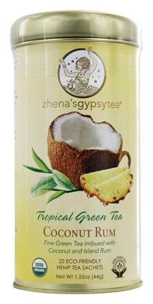 Zhena's Gypsy Tea - Tropical Green Tea Coconut Rum - 22 Tea Bags