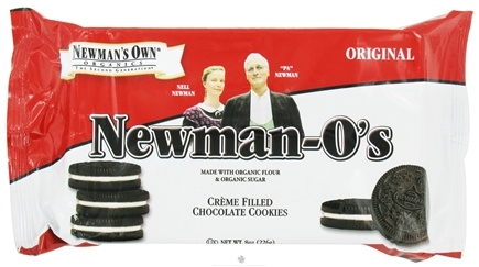 DROPPED: Newman's Own Organics - Newman-O's Creme Filled Chocolate Cookies Original - 8 oz.