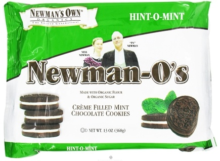 DROPPED: Newman's Own Organics - Newman's-O's Creme Filled Chocolate Cookies Hint-O-Mint - 13 oz. CLEARANCE PRICED