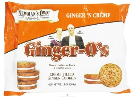 DROPPED: Newman's Own Organics - Ginger O's Creme Filled Ginger Cookies Ginger 'N Creme - 13 oz.
