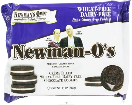 DROPPED: Newman's Own Organics - Newman's O's Creme Filled Chocolate Cookies Wheat Free Dairy Free - 13 oz.