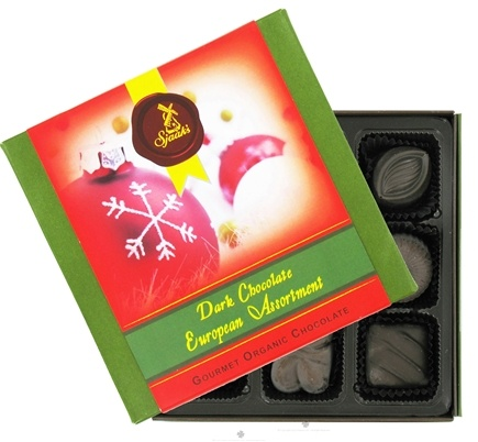 Zoom View - European Assortment Gourmet Organic Dark Chocolate With Holiday Sleeve