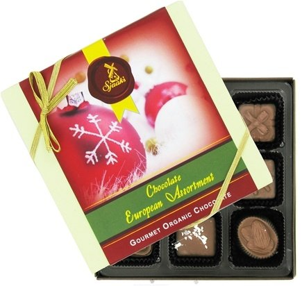 Zoom View - European Assortment Gourmet Organic Milk Chocolate With Holiday Sleeve