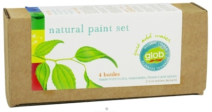 DROPPED: ColorKitchen - Glob Colors Natural Paint Set Box of Four Botanical Colors - 4 x .5 oz Bottles - CLEARANCE PRICED