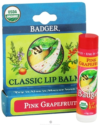 DROPPED: Badger - Classic Lip Balm Box Pink Grapefruit - 0.15 oz.