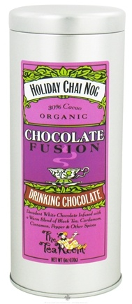 DROPPED: The Tea Room - Chocolate Fusion Organic Drinking Chocolate Holiday Chai Nog - 6 oz. CLEARANCE PRICED
