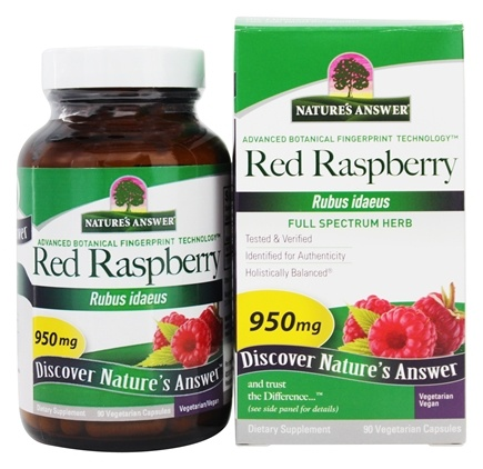 Nature's Answer - Red Raspberry Leaf 950 mg. - 90 Vegetarian Capsules