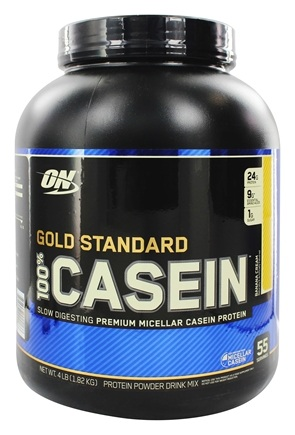 DROPPED: Optimum Nutrition - 100% Casein Gold Standard Banana Cream - 4 lbs.