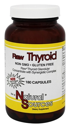 Natural Sources - Raw Thyroid - 180 Capsules
