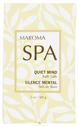 DROPPED: Maroma - Spa Bath Salts Quiet Mind - 2 oz. CLEARANCE PRICED