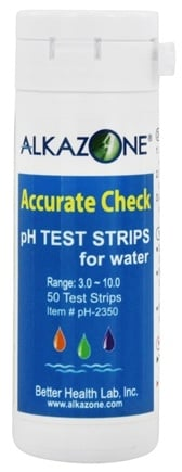 Alkazone - Accurate Check pH Test Strips for Water - 50 Strip(s)