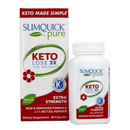 SlimQuick - Pure Extra Strength Weight Loss For Women - 60 Caplets Formerly Razor Maximum Strength Female Fat Burner