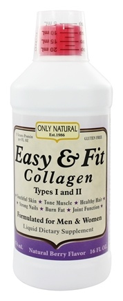 Only Natural - Easy & Fit Collagen Types I and II Natural Berry Flavor - 16 oz.