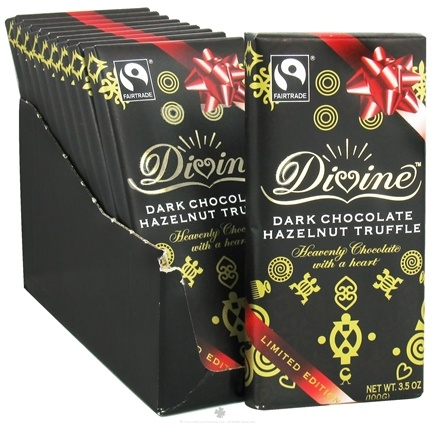 DROPPED: Divine - Dark Chocolate Bar Hazelnut Truffle - 3.5 oz.