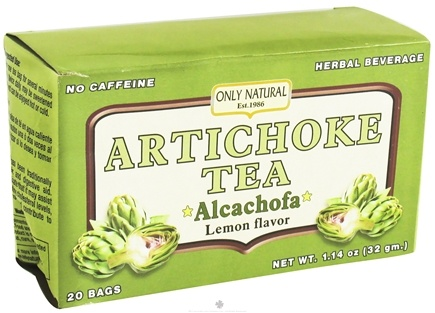 DROPPED: Only Natural - Artichoke Tea Alcachofa Caffeine Free Lemon Flavor - 20 Tea Bags