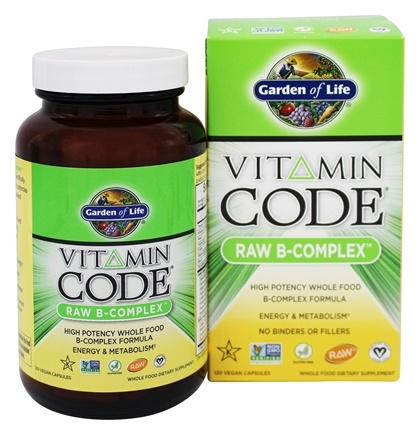 Buy Garden of Life - Vitamin Code Raw B Complex - 120 Vegetarian ...