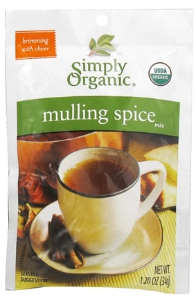 DROPPED: Simply Organic - Mulling Spice Mix Gluten Free - 1.2 oz. CLEARANCE PRICED