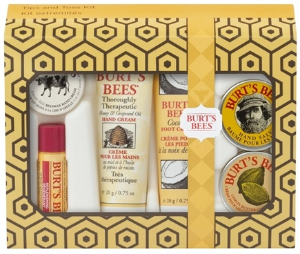 DROPPED: Burt's Bees - Tips and Toes Kit with Holiday Sleeve Gift Set