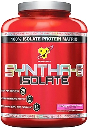 DROPPED: BSN - Syntha-6 100% Isolate Protein Matrix Strawberry Milkshake - 4.01 lbs.