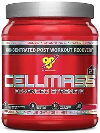 DROPPED: BSN - Cellmass 2.0 Advanced Strength Blue Raz - 30 Servings - 10.2 oz. CLEARANCE PRICED