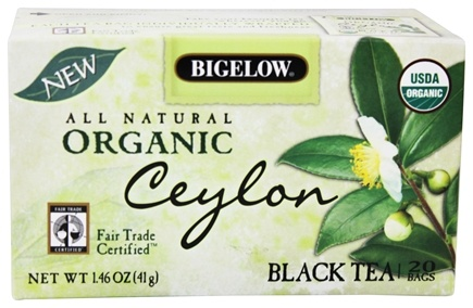 DROPPED: Bigelow Tea - All Natural Organic Black Tea Ceylon - 20 Tea Bags